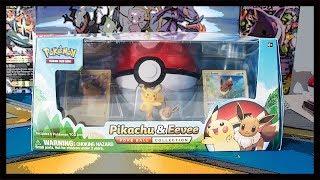 Pikachu And Eevee Pokeball Collection Box! Pokemon TCG