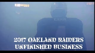 2017 Oakland Raiders Unfinished Business