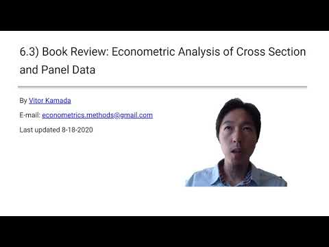 6.3) Book Review: Econometric Analysis Of Cross Section And Panel Data