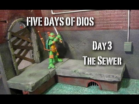 Custom Sewer Action Figure Diorama (5 Days of Dios Day 3)