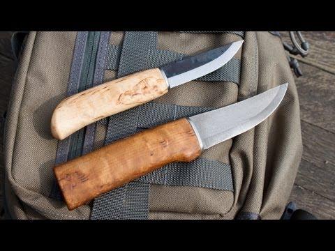 Two Finnish Puukko Knives by Heimo Roselli: Carpenter Knife