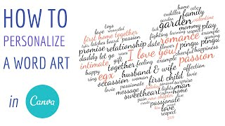 How to Personalize a Word Art for Valentine's Day + Free Template