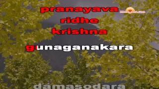 Karaoke of Jaya Janardana Krishna Radhika Pathe by MeraGana.com