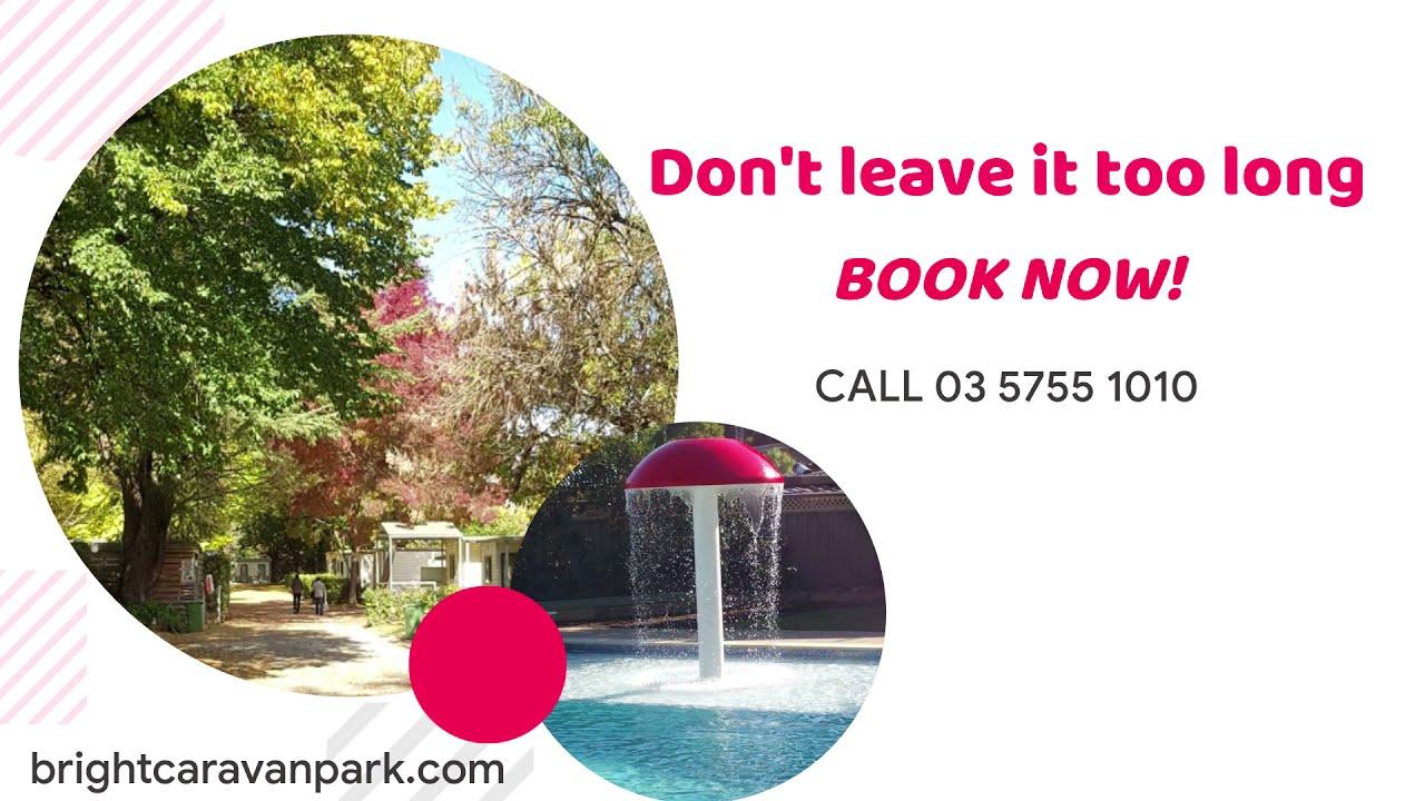 Accommodation options at Bright Caravan Park, Victoria