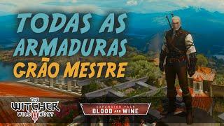 The Witcher 3: Blood and Wine ► Todos os Set Grão-Mestre (Mantícora, Felino, Urso, Grifo e Lobo)