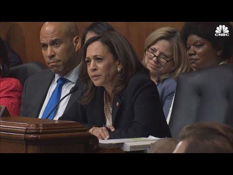 Kamala Harris Grills Ag Barr During Senate Hearing Youtube