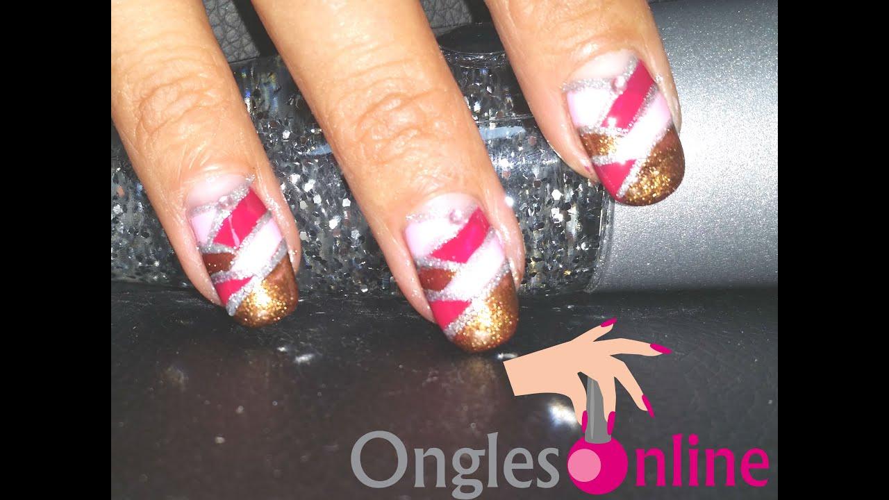 Epi, tresse nail art sur ongles au vernis à ongles - YouTube