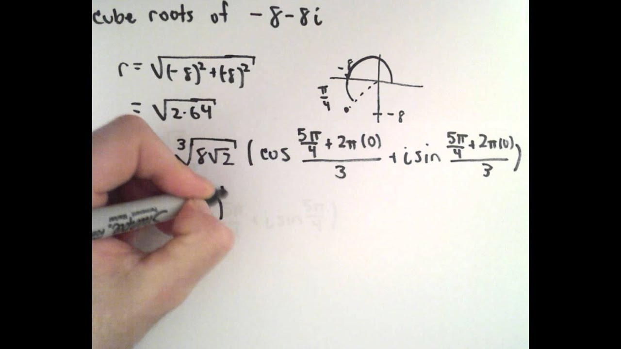Roots Of Complex Numbers Example 6 Youtube