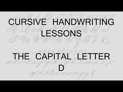 Cursive lesson 34 Capital letter D handwriting penmanship calligraphy copperplate