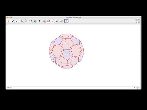 El Icosaedro Truncado, con GeoGebra.