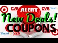 WATCH THIS BEFORE YOU SHOP! NEW DEALS + COUPONS! FREE STUFF!