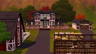 Sims 3 Speed Build - Saddle Ranch
