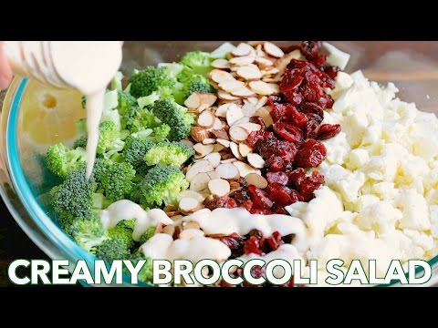 Healthy Broccoli Salad Recipe with Creamy Honey Lemon Dressing