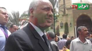 """تشييع جثمان """"عبد العظيم وزير"""" من مسجد الرحمن الرحيم"""