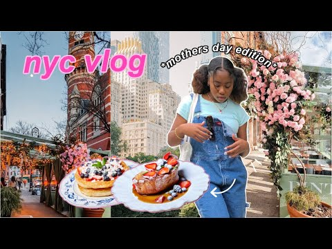 nyc vlog   mothers day, amazing brunch, unboxing packages