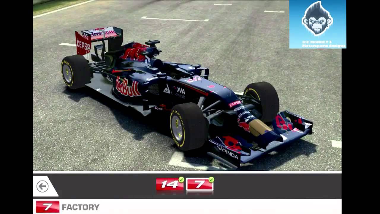 Real racing 3 2014 ferrari f1 f14t skin mod f1 2013 2014 2015 youtube