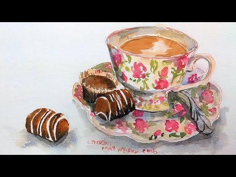 Teacup in Watercolor Tutorial PLUS What YOU Need to Know BEFORE Buying Prima Watercolors