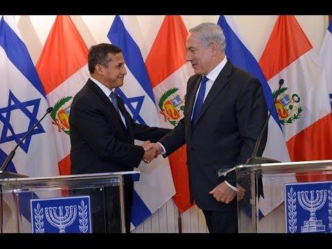 PM Netanyahu Meets President of Peru Ollanta Humala Tasso