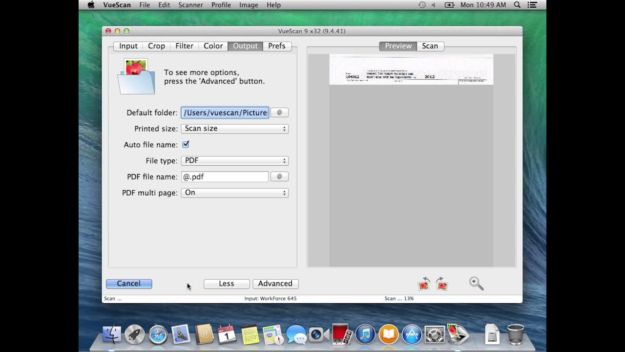 How to scan a multipage PDF document with VueScan