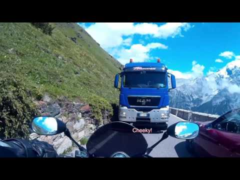 Motorcycle Descent of the Stelvio Pass