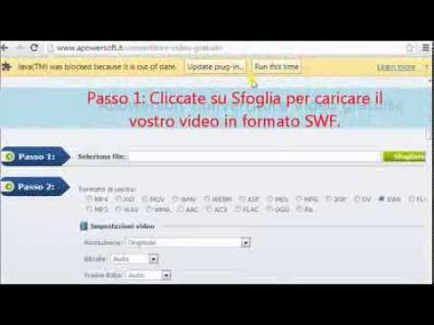 Come Convertire Flash SWF In MP4 Online