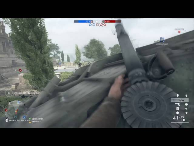 Battlefield™ 1 how to use a Limpet mine against tank tracks