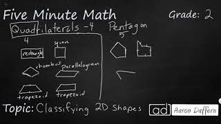 2nd Grade Math Classifying 2D Shapes