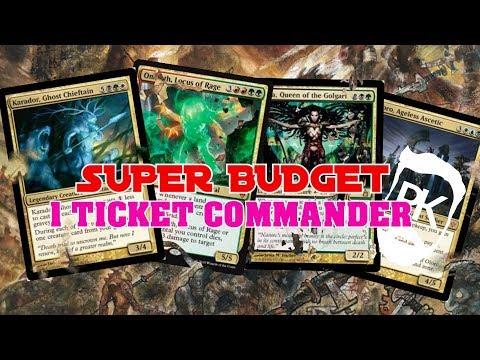 BUDGET MTG EDH - 1 Ticket Commander - Omnath, Savra, Oloro, Karador
