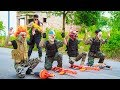 NERF WAR : Special Police SWAT Warriors Nerf Guns Fight Group Crime Mask Nerf Mega Gold