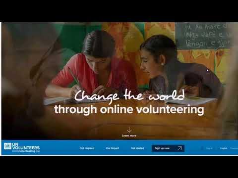How to get extra support from UN Online Volunteers: Webinar