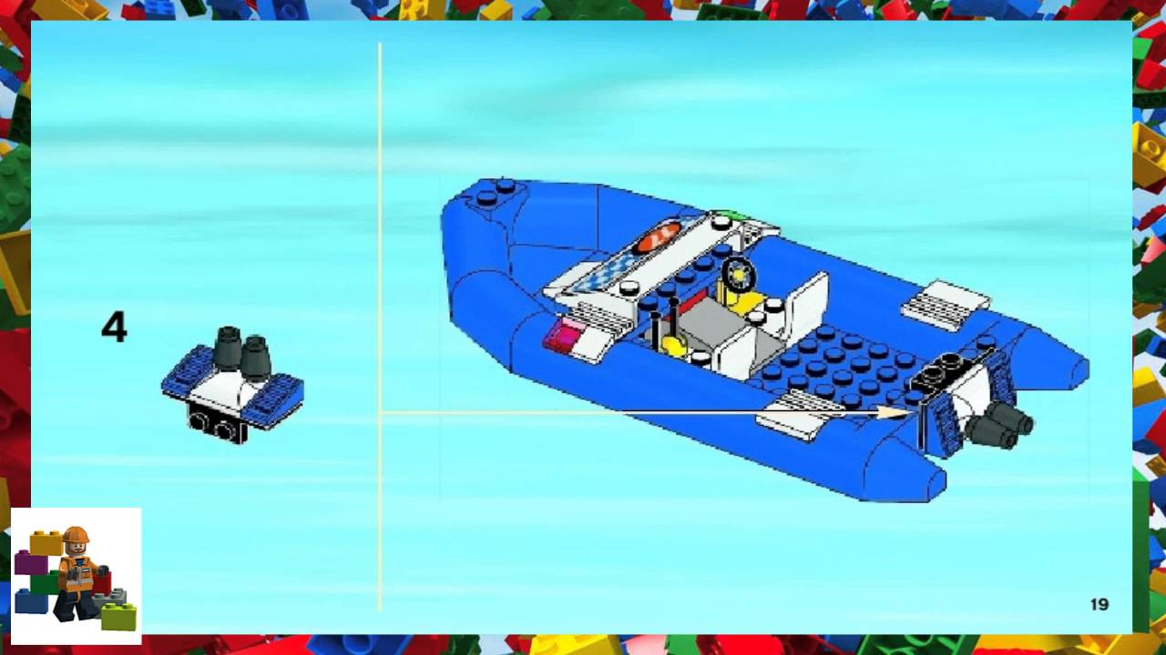 Lego Instructions City Fire 60005 Fire Boat Book 1 Youtube