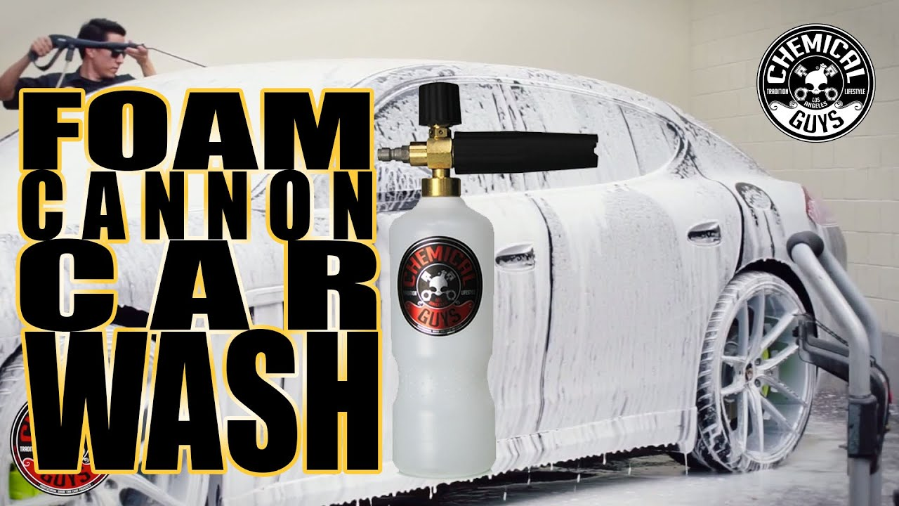 How To Foam Cannon Car Wash Chemical Guys V7 Car Wash Soap Youtube