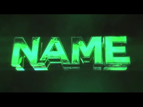 Free 3d intro 63 glossy green sync 3d intro template for Free youtube intro templates