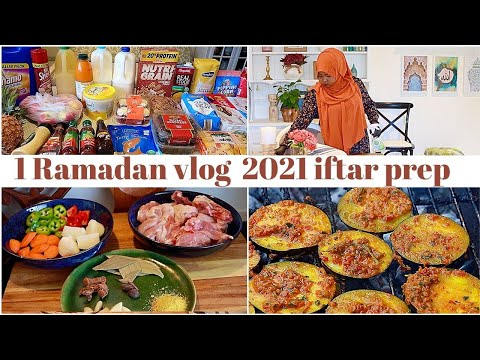 First iftar preparation in Ramadan 2021 vlog cleaning + shopping + cooking  روتين اول يوم في رمضان