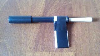 Как сделать мини пистолет стреляющий How To Make A Mini Gun. How To Make A Simple Gun