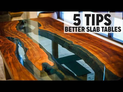 5 Tips For Better Live Edge Tables