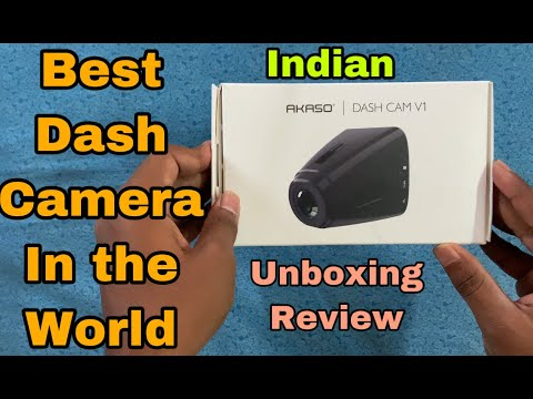Akaso V1 Dash Camera India | UNBOXING AND REVIEW AND INSTALLATION