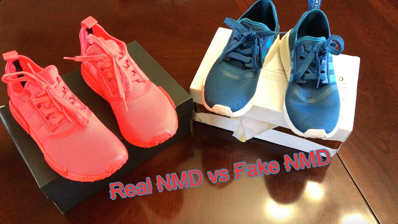 adidas NMD vs dhgate NMD - YouTube