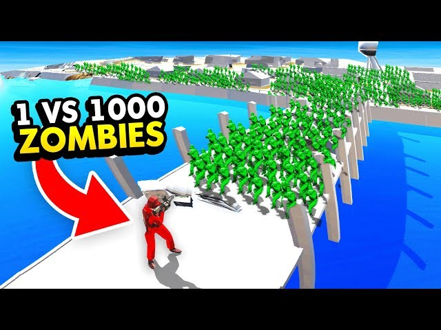 NEW* 1 UNIT vs HUGE ZOMBIE INVASION IN RAVENFIELD (Ravenfield Funny