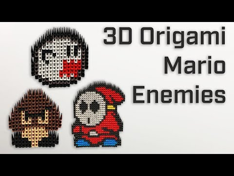 How to make Mario decorations with 3D origami pieces [ DIY Showcase - Part 1 ]