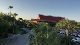 Monorail Ride At Disney's Magic Kingdom In Lake Buena Vista, FL