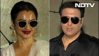 Rekha And Govinda Spotted At Manisha Koirala's Dear Maya Screening
