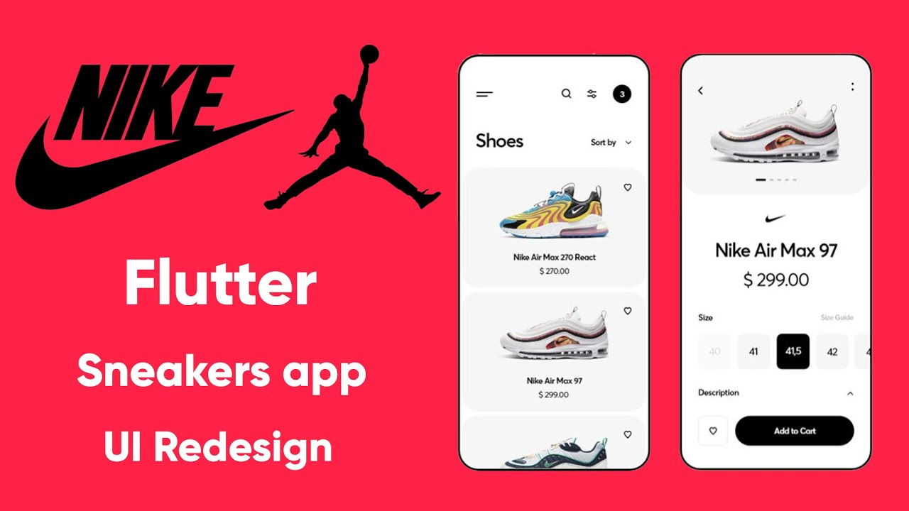 Flutter Nike Sneakers app UI Redesign   Speed Code