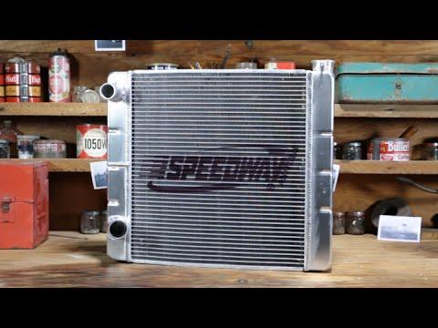 Speedway Ford/Mopar Double Pass Aluminum Radiator