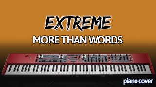 Piano Cover: More Than Words [Extreme]