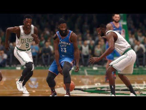 NBA LIVE 18 - 2012 OKC Thunder vs Boston Celtics - 1st Qrt - LIVE ULTIMATE TEAM - PS4 PRO - HD