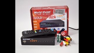 Топовая Новинка 2018! World Vision T62A - тюнер (ресивер) Т2 видеообзор и распаковка