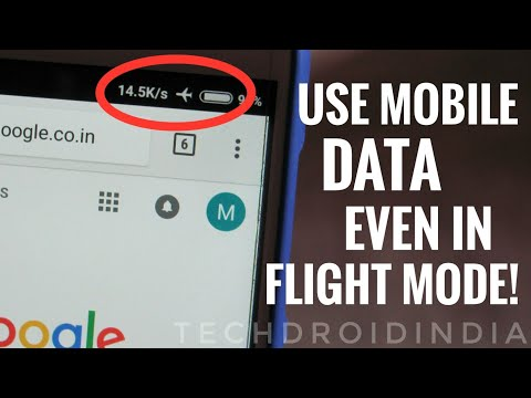 How To Use Internet / Mobile Data In Flight Mode on Android Phone!