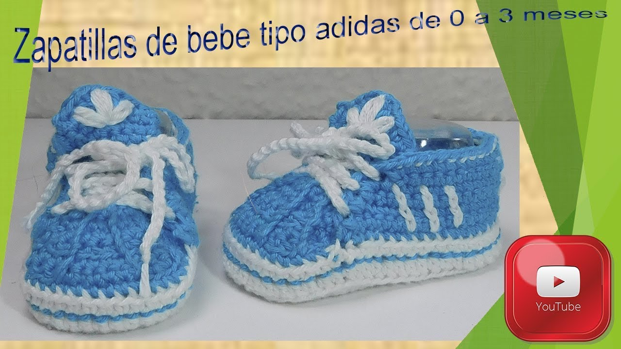 6c1fe00bb Zapatillas tipo adidas para bebe de 0 a 3 meses. - YouTube