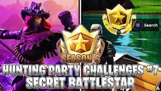 SECRET BATTLESTAR LOCATION! Week 7 Hunting Party Challenges (Fortnite Season 6)